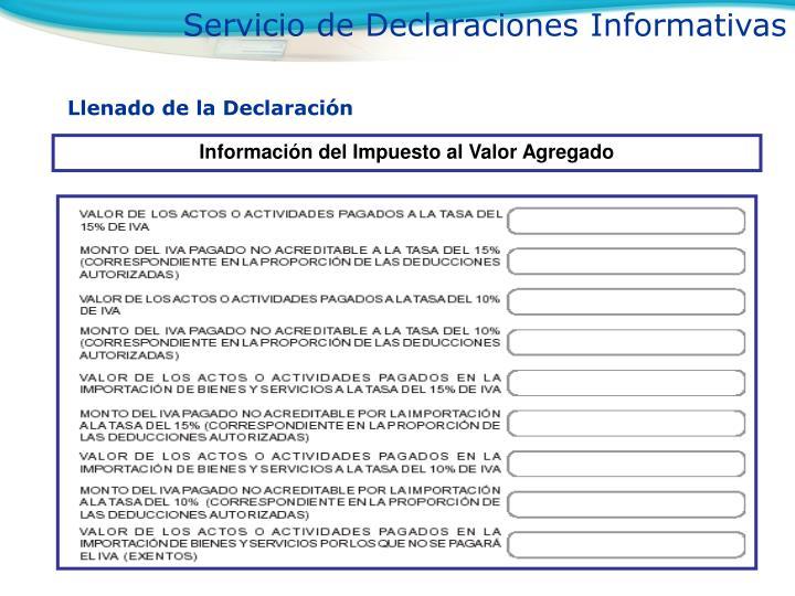 Servicio de Declaraciones Informativas
