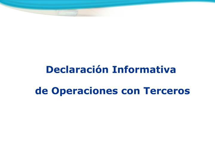 Declaración Informativa