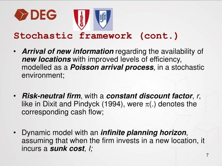 Stochastic framework (cont.)