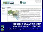 scenario analysis group md leam land use model