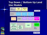 top down bottom up land use models