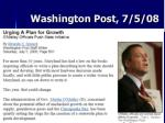 washington post 7 5 08