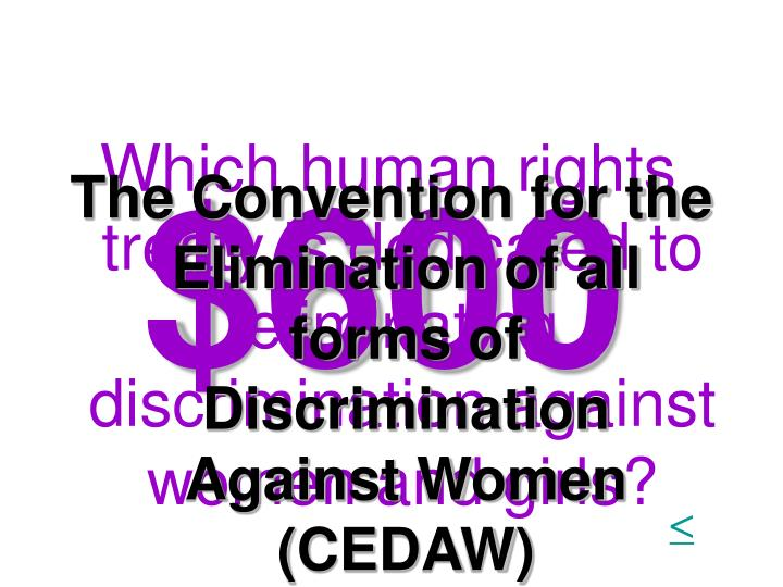 Which human rights treaty is dedicated to eliminating discrimination against women and girls?