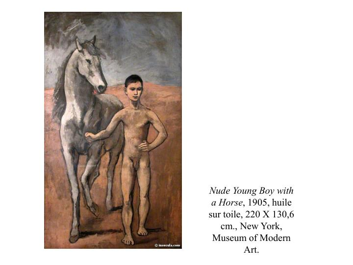 Nude Young Boy with a Horse
