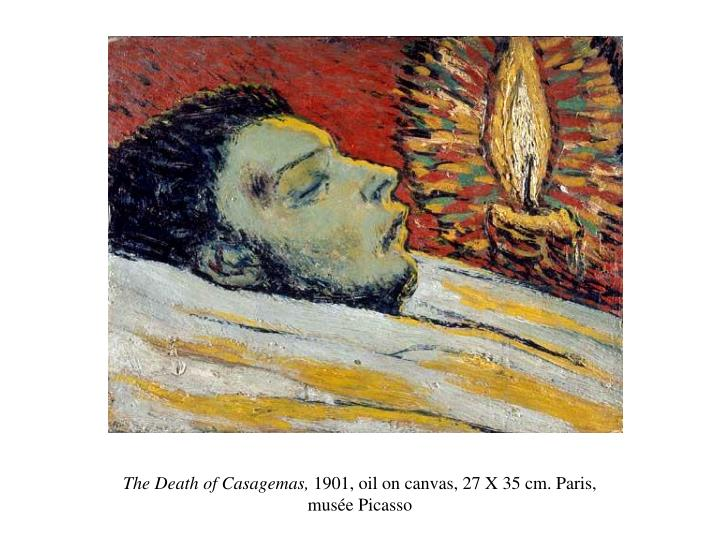 The death of casagemas 1901 oil on canvas 27 x 35 cm paris mus e picasso