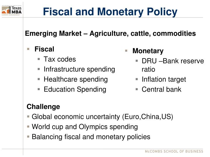 advantage and disadvantage of fiscal and monetary policy Despite its imperfections, monetary policy has several advantages over the two alternative types of stabilizers—fiscal policy and direct controls (price controls and rationing.