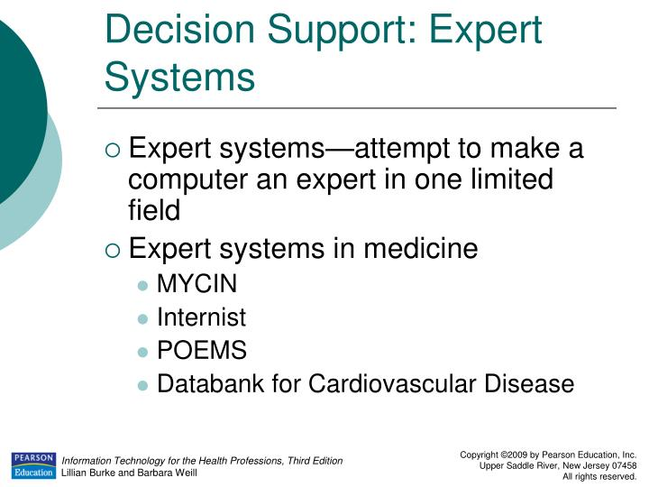 Decision Support: Expert Systems