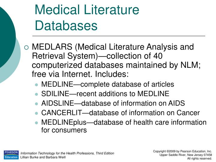 Medical Literature Databases