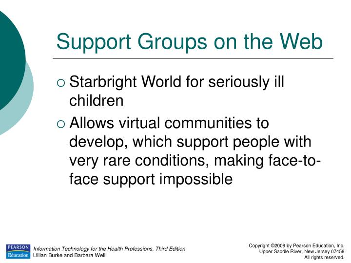 Support Groups on the Web