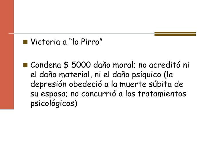 """Victoria a """"lo Pirro"""""""