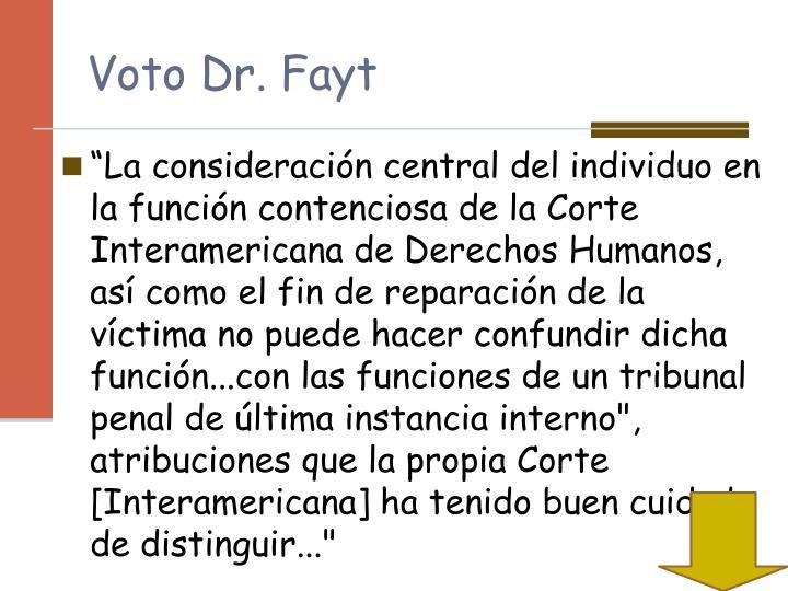 Voto Dr. Fayt