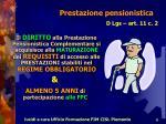 prestazione pensionistica