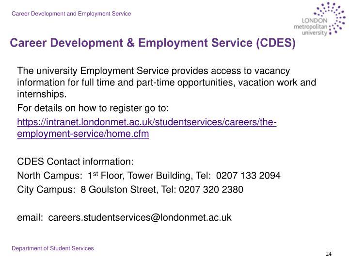 Career Development and Employment Service