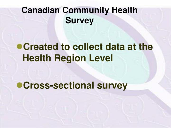 Canadian Community Health Survey