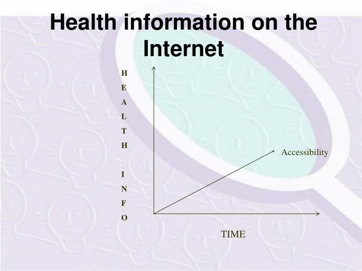 Health information on the internet1