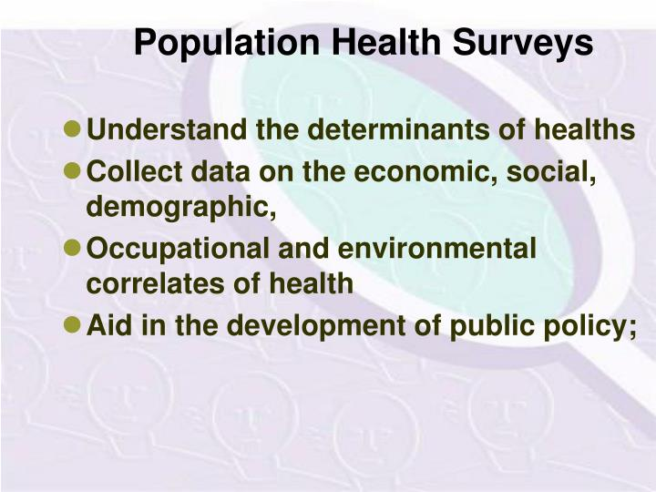 Population Health Surveys