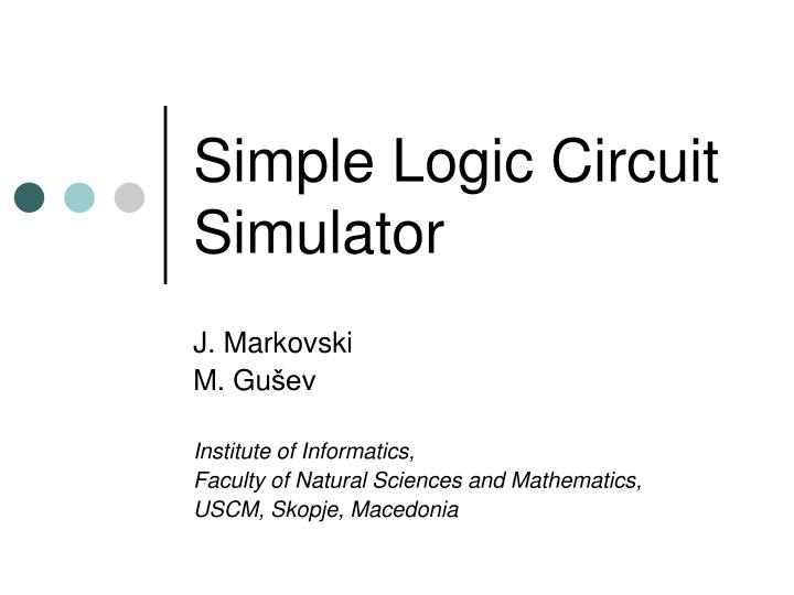 simple logic circuit simulator n.