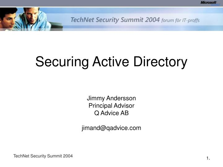 securing active directory n.