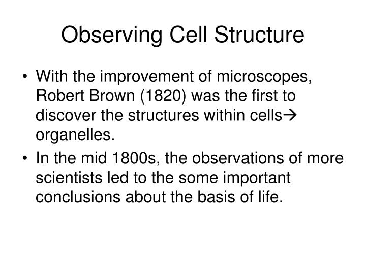 Observing Cell Structure