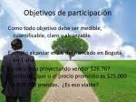 objetivos de participaci n