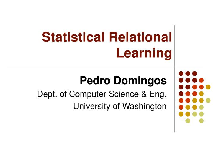 statistical relational learning n.