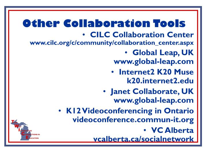 Other Collaboration Tools
