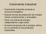crecimiento industrial