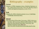 bibliography examples