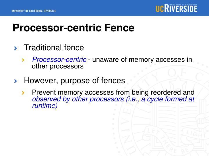 Processor-centric Fence
