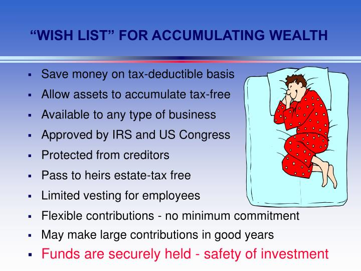 """WISH LIST"" FOR ACCUMULATING WEALTH"
