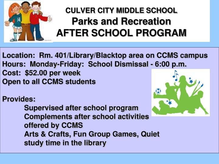 Culver City Middle School Food Services