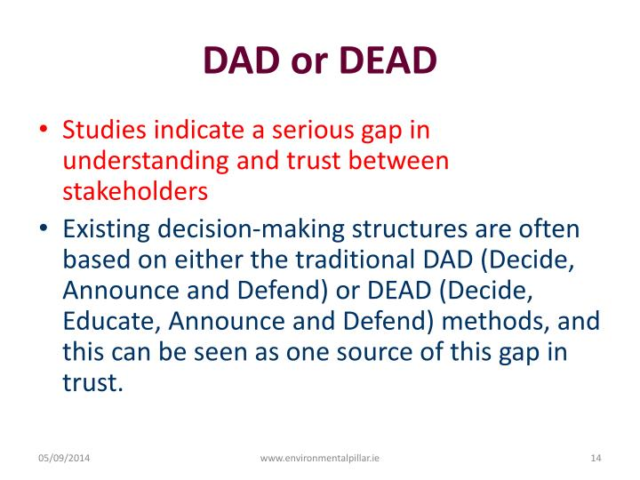DAD or DEAD