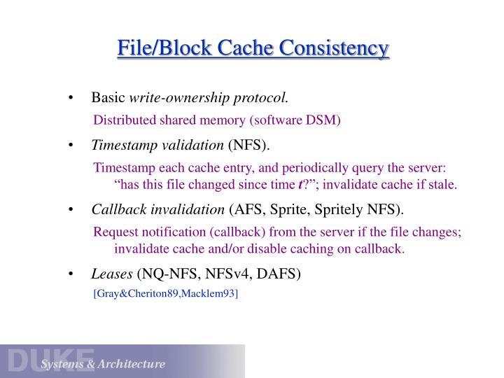 File/Block Cache Consistency