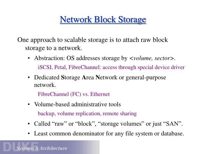 Network Block Storage