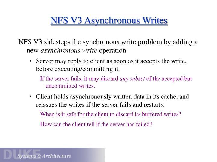 NFS V3 Asynchronous Writes