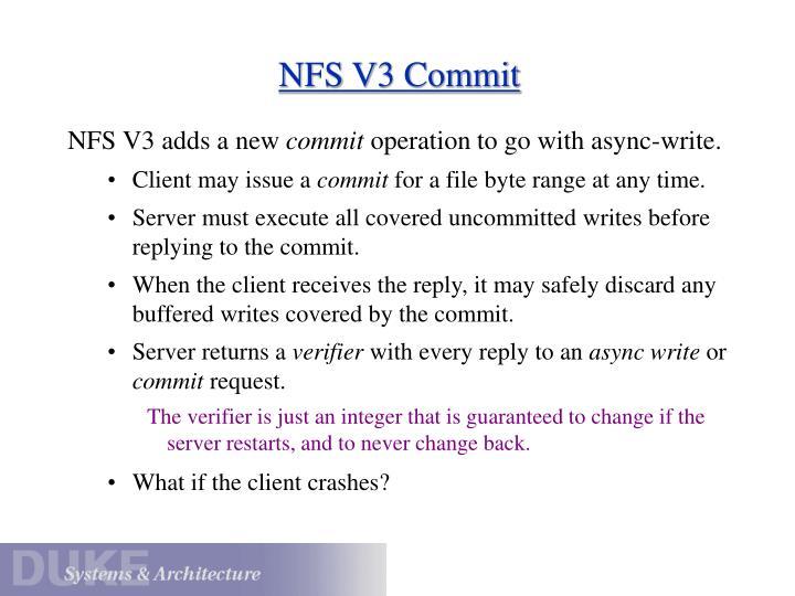NFS V3 Commit