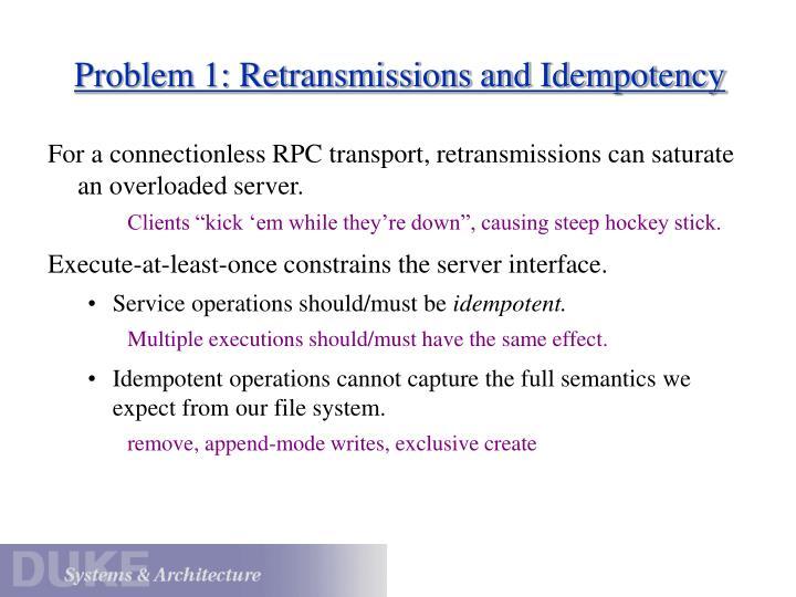 Problem 1: Retransmissions and Idempotency
