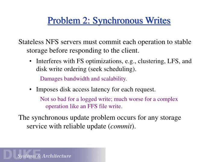 Problem 2: Synchronous Writes