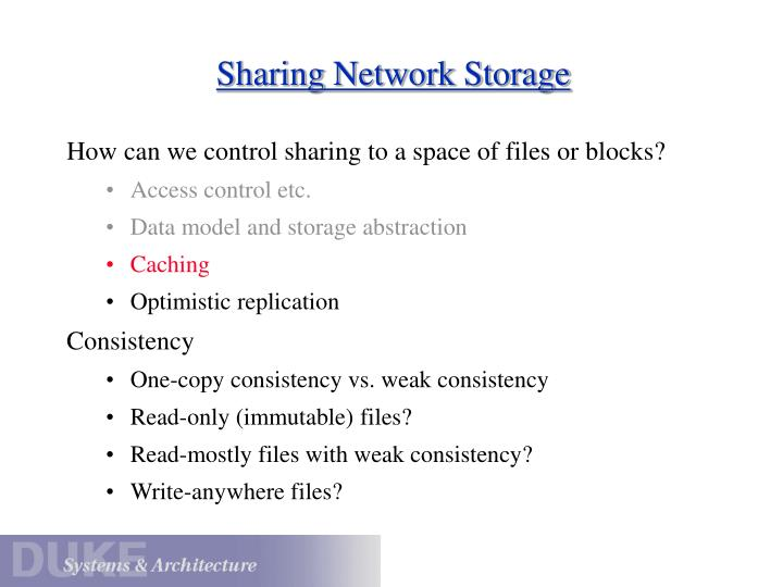 Sharing Network Storage