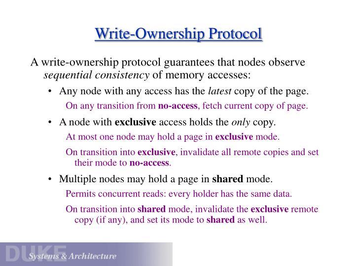 Write-Ownership Protocol