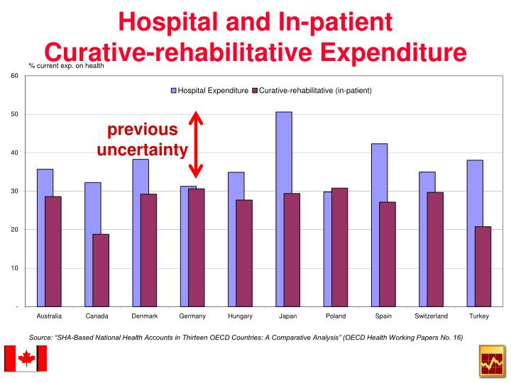 Hospital and in patient curative rehabilitative expenditure