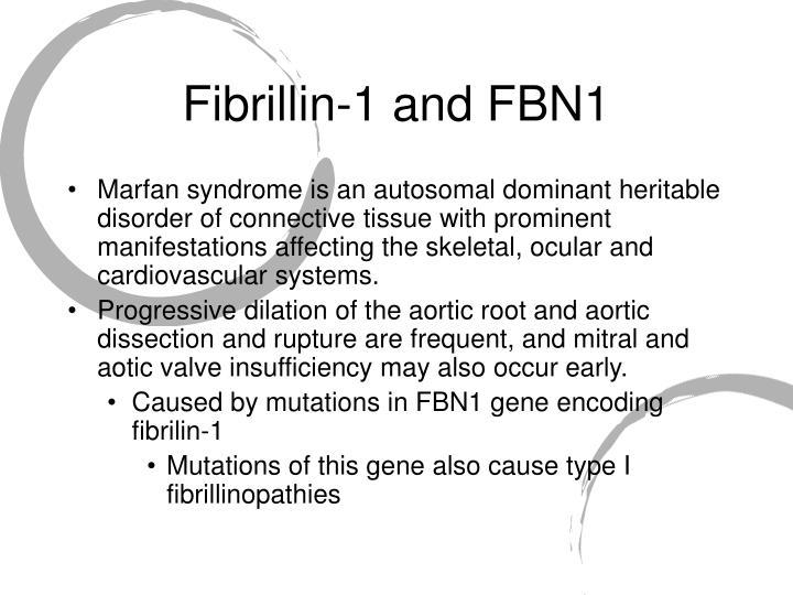 Fibrillin-1 and FBN1