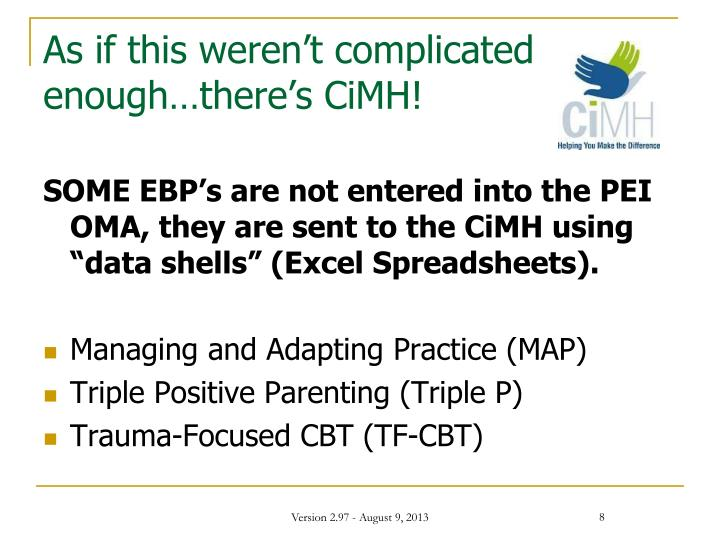 As if this weren't complicated enough…there's CiMH!
