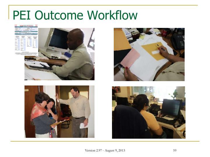 PEI Outcome Workflow