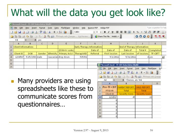 What will the data you get look like?