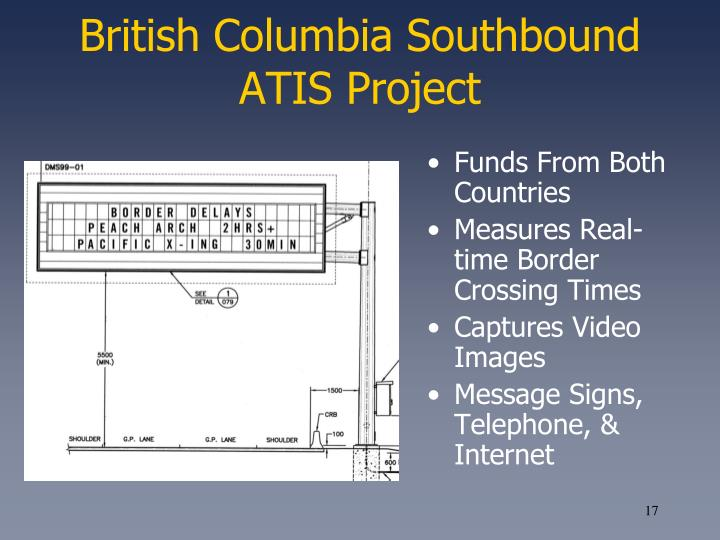 British Columbia Southbound ATIS Project