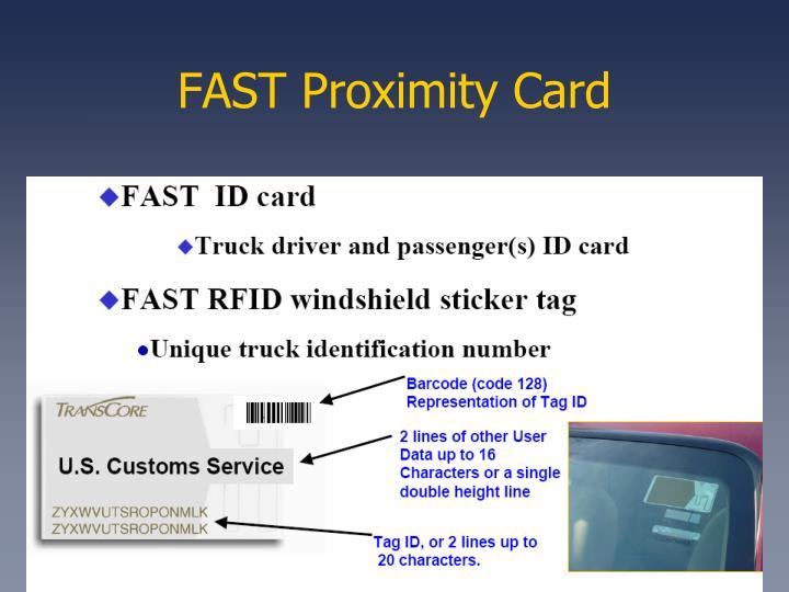 FAST Proximity Card