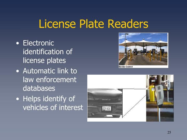 License Plate Readers