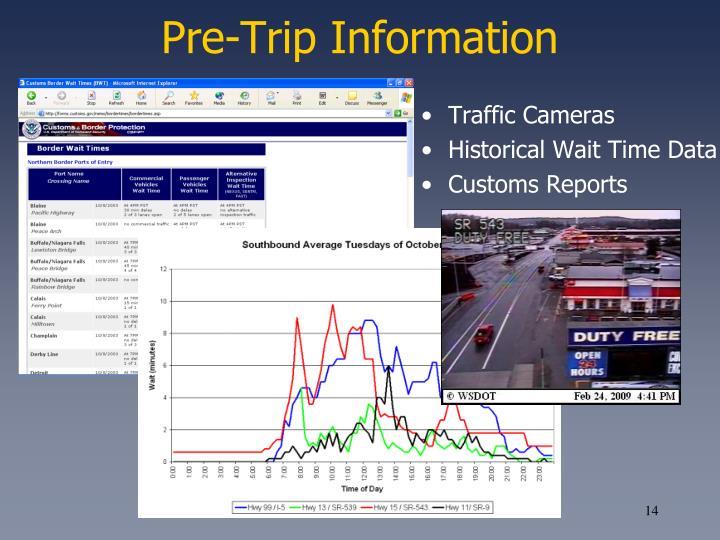 Pre-Trip Information