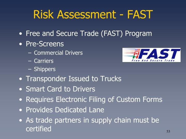 Risk Assessment - FAST